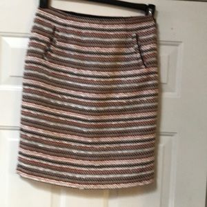 (D) Halogen tweed style skirt fall colors size 2p